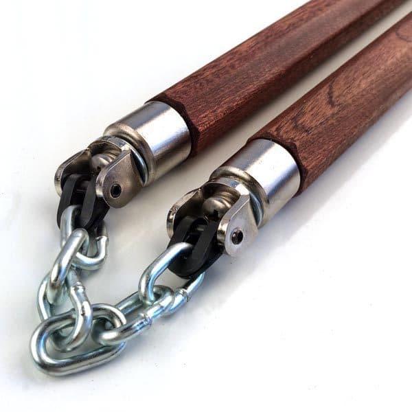 12 inch Sapele Chain Nunchaku