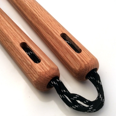 10 inch Red Oak Nunchaku