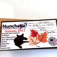 11.25 inch Ash Nunchaku