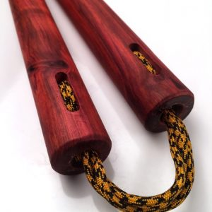 Round Red Heart Nunchaku