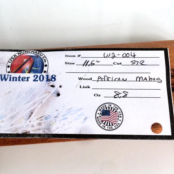 11.5 inch African Mahogany Nunchaku