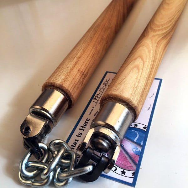 13 inch Hickory U swivel Round