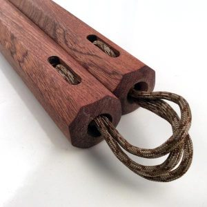 Sapele Slim Long Nunchaku Matched